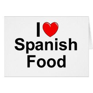I Love (Heart) Spanish Food Card