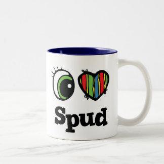 I Love (Heart) Spud Two-Tone Coffee Mug