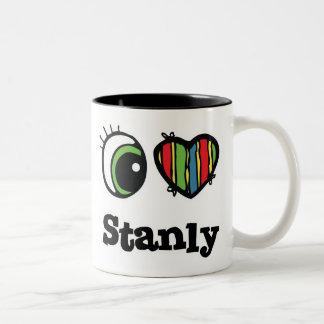 I Love (Heart) Stanly Two-Tone Coffee Mug