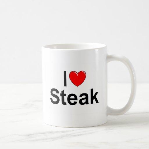 I Love (Heart) Steak Coffee Mug