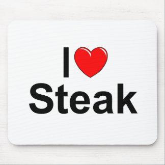 I Love (Heart) Steak Mouse Pad