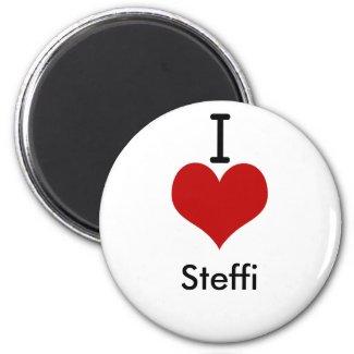 I Love (heart) Steffi magnet