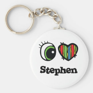 I Love (Heart) Stephen Key Chain