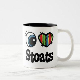 I Love (Heart) Stoats Two-Tone Coffee Mug