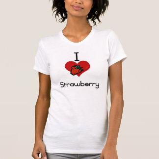I love -heart  strawberry t shirts