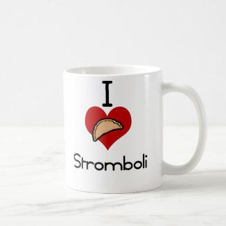 I love -heart  stromboli classic white coffee mug