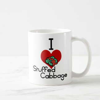 I love-heart Stuffed Cabbage Classic White Coffee Mug