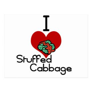 I love-heart Stuffed Cabbage Postcard
