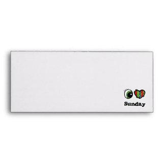 I Love (Heart) Sunday Envelope