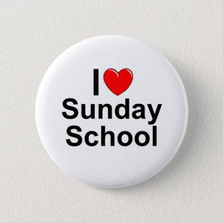 I Love (Heart) Sunday School Button