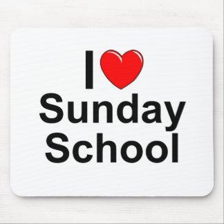 I Love (Heart) Sunday School Mouse Pad