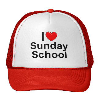 I Love (Heart) Sunday School Trucker Hat