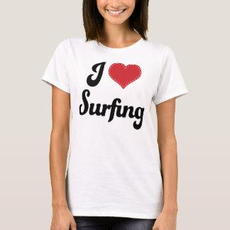 I Love (Heart) Surfing T-Shirt