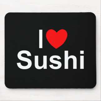 I Love (Heart) Sushi Mouse Pad