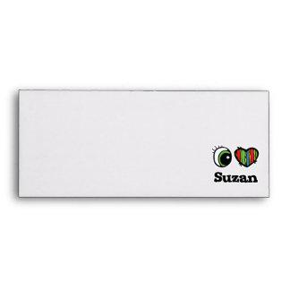 I Love (Heart) Suzan Envelopes