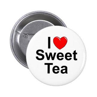 I Love (Heart) Sweet Tea Button