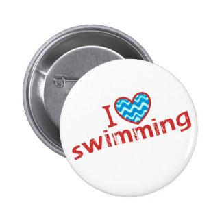 I love (heart) Swimming Button