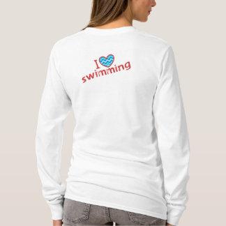 I love (heart) Swimming T-Shirt