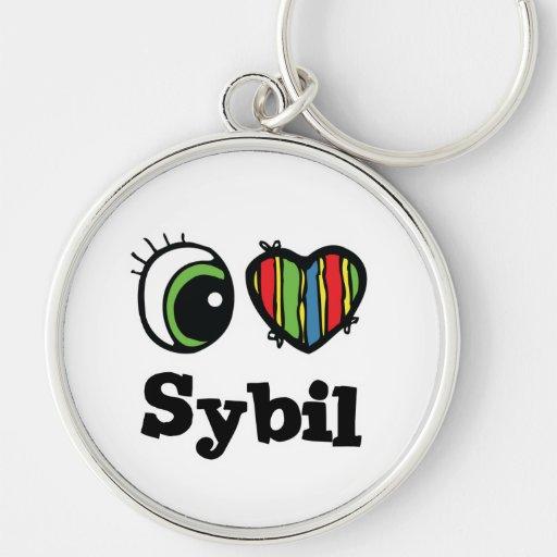 I Love (Heart) Sybil Keychain
