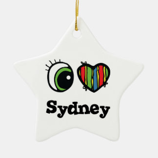 I Love (Heart) Sydney Ceramic Ornament