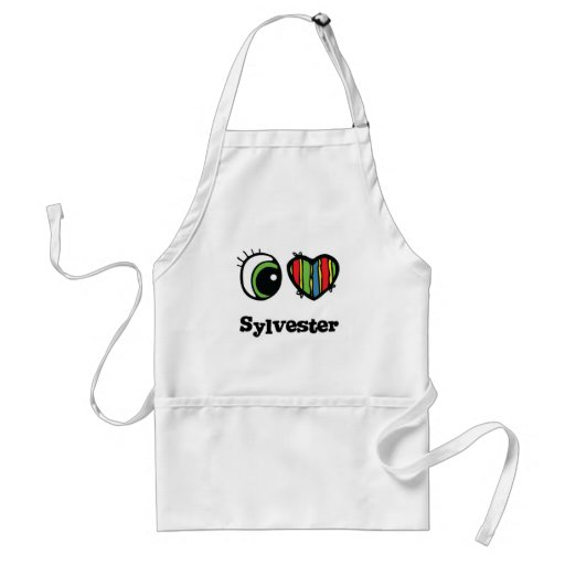 I Love (Heart) Sylvester Adult Apron
