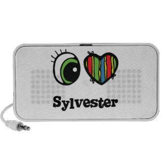 I Love (Heart) Sylvester Laptop Speaker