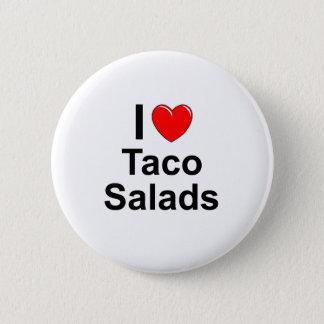 I Love Heart Taco Salads Pinback Button