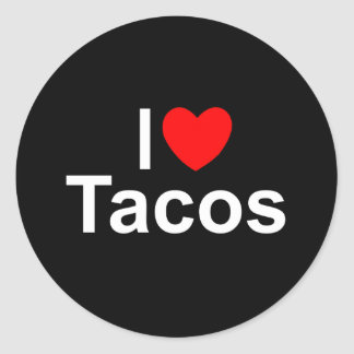 I Love (Heart) Tacos Classic Round Sticker
