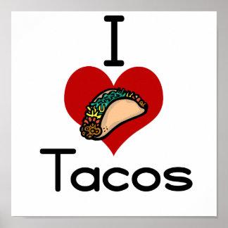 I love (heart) tacos print