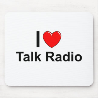 I Love Heart Talk Radio Mouse Pad