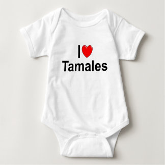 I Love (Heart) Tamales Baby Bodysuit