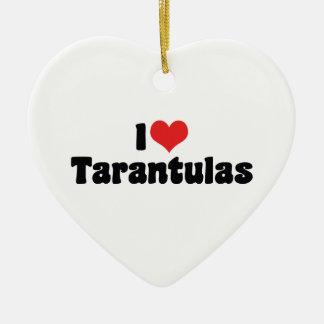 I Love Heart Tarantulas - Spider Lover Ceramic Ornament