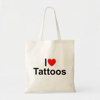 I Love (Heart) Tattoos Canvas Bag