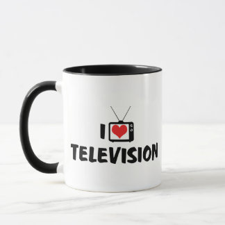 I Love Heart Television - TV Lover Mug