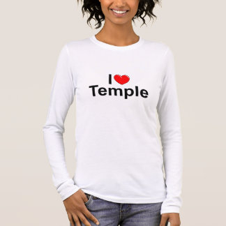 I Love (Heart) Temple Long Sleeve T-Shirt