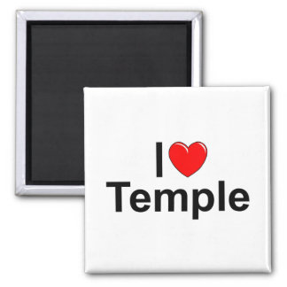 I Love (Heart) Temple Refrigerator Magnets