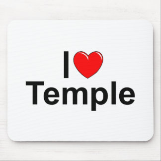 I Love (Heart) Temple Mouse Pad