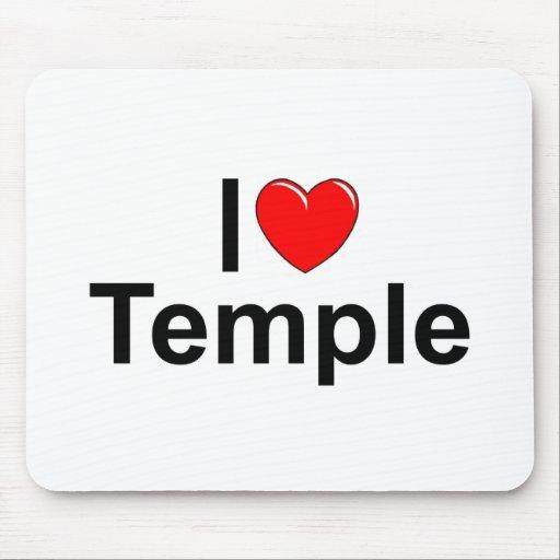 I Love (Heart) Temple Mousepads