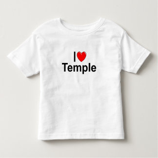 I Love (Heart) Temple Toddler T-shirt