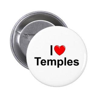 I Love (Heart) Temples 2 Inch Round Button