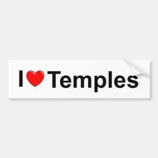 I Love (Heart) Temples Bumper Sticker