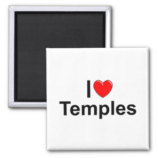 I Love (Heart) Temples Magnets