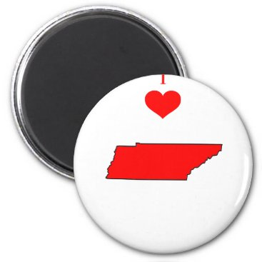 I Love (Heart) Tennessee Magnet
