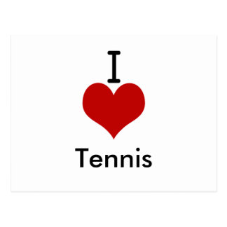I Love (heart) Tennis Postcard