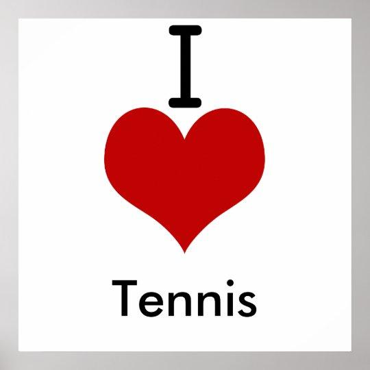 I Love (heart) Tennis Poster