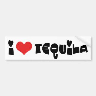 I Love Heart Tequila Bumper Sticker
