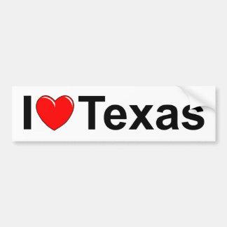I Love (Heart) Texas Bumper Sticker