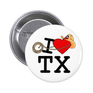 I Love Heart Texas 2 Inch Round Button