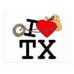 I Love Heart Texas Postcards