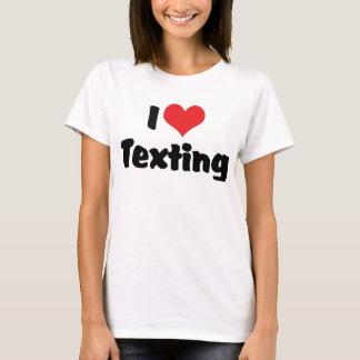 I Love Heart Texting T-Shirt